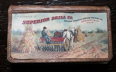1906 Horse Drawn Farm Machinery Advertising Notepad Catalog Celluloid Covers