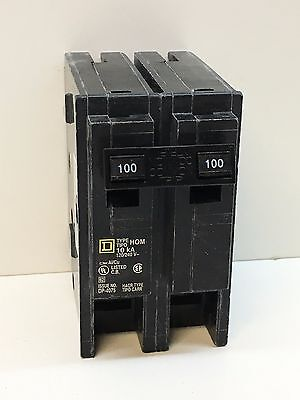 Square D HOM2100 Homeline Circuit Breaker 2-Pole 100-Amp 2P 100A 120/240V