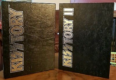●KISSTORY●VOL 1 HAND SIGNED BY ALL FOR ORIGINAL MEMBERS c1994●VOL 2 c1999●NM●