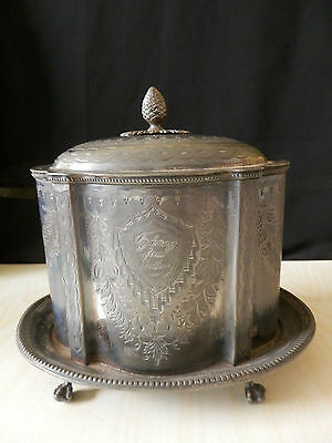 Antique Victorian Pewter Tea Caddy