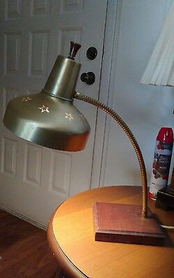 Vintage MCM Cone & Stars Retro modern Desk Table Lamp
