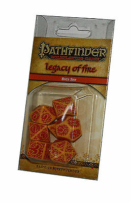 PATHFINDER-SET-DICE SET-Lagacy of Fire-W4,W6,W8,W10,W12,W20,W100-(00)-neu-new