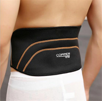 NEW Men Copper Fit Back Pro As Seen On TV Compression Lower Lumbar Support Belt