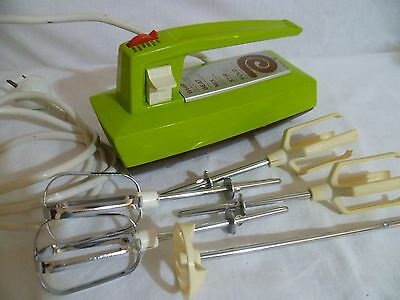 70's Vintage Retro GE Hand Mixer Lime Green Beater Blender General Electric