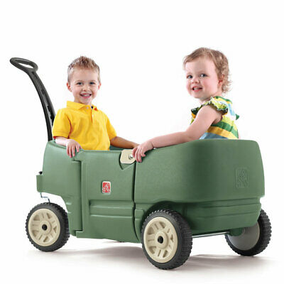 Wagon For Two Plus Willow Green Step2 | Kids Childrens Toddler Ride On