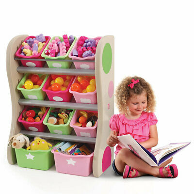 Fun Time Room Organiser Pink | Kids Childrens Furniture Storage NEW