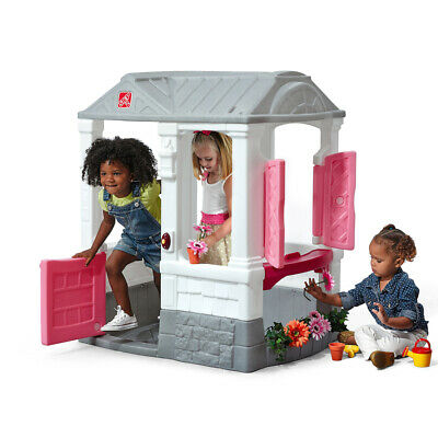 Courtyard Cottage Pink Step2 Kids Childrens Outdoor Play Playhouse NEW