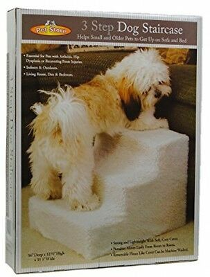 Pet Stairs 3 Steps Stairs Small Dog Cat Steps Pet Ramp Ladder Portable Travel