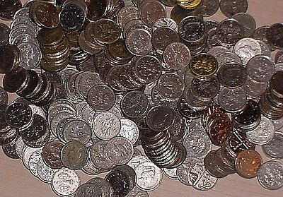 500 Great  Britain U.K. Small  5 Pence Coins QE2
