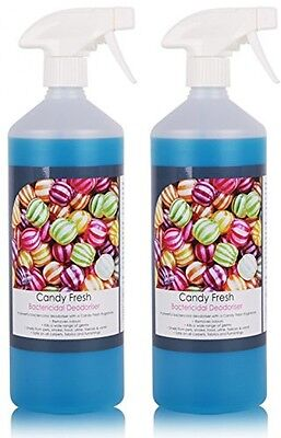 2 Pack Of THE CHEMICAL HUT 1L Fresh Candy Kennel Bactericidal Deodoriser For