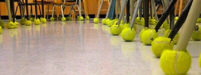 100 PRE-CUT PRECUT Pre Cut Used Tennis Balls For Chairs (Any Quantity Available)