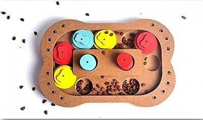 Interactive Pet Toy - Food Hiding Puzzle (Rectangle)