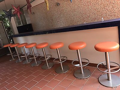 stainless steel cafe stools