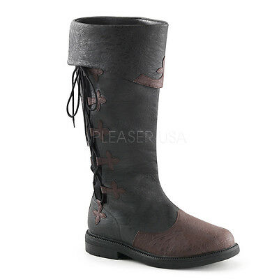 Renaissance Faire Pirate Captain Historical Medieval Knight Mens Costume Boots