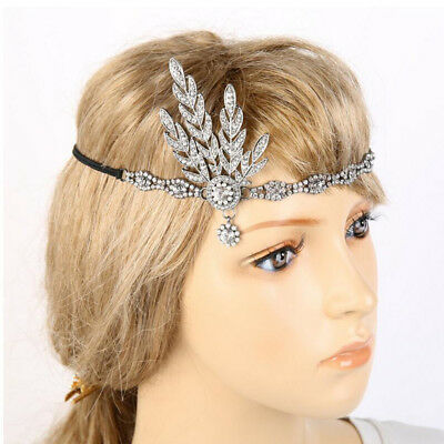 20s 1920s Headband Vintage Bridal Gatsby Flapper Costume Dress Accessories BO