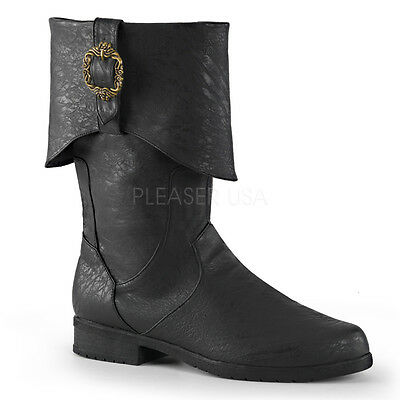 Pirate Cosplay Jack Sparrow Captain Hook Medieval Knight Mens Costume Boots