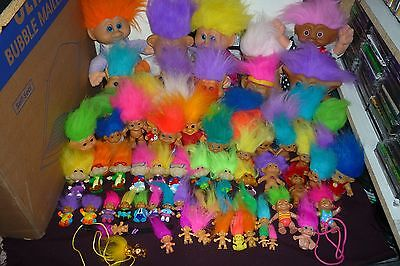 Massive Troll Collection Over 70pcs Many Sizes Ace Soma Forest Bk Kids & More