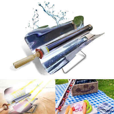 Portable Smokeless Stove Solar Cooker Oven Cooking BBQ Grill Outdoor Camping New