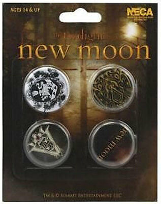 TWILIGHT 4 x 1.5-inch Badge Button Pin Set NEW MERCHANDISE RARE NEW MOON