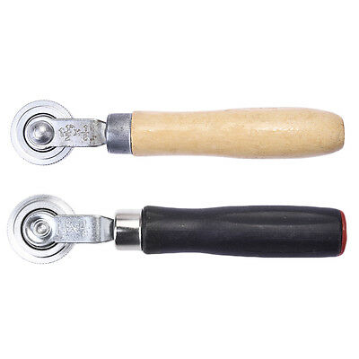 1 Pc Tire Patch Repair Stitcher Ball Bearing Roller Tire Repair Wood Handle