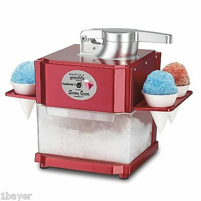 Cuisinart Home Kitchen Bar School Snow Ice Cone Dessert Maker Appliance Machine