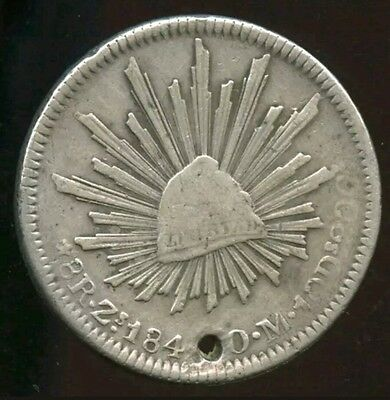 Mexico 1831 8 Reales Ga LP Silver Coin Very Scarce Date Philippines Countermark