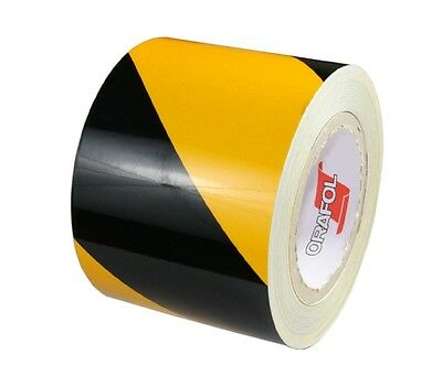 rm. x 100mm Orafol 5431 RA1 Reflective Industry warning markings Yellow/Black