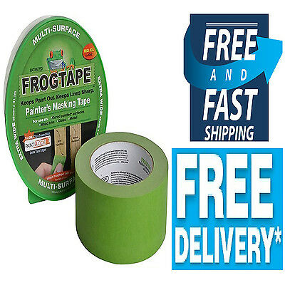 Painters Masking Frog Tape Multisurface Cured Paint Bleed Block Wood Glass Green