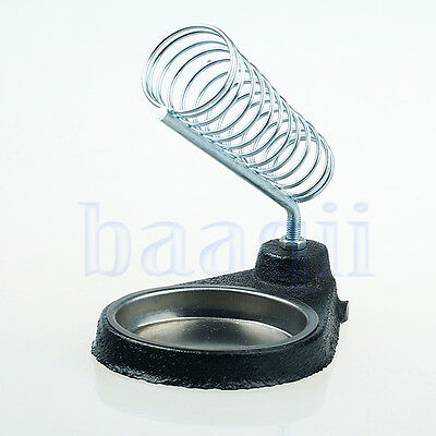Round Soldering Solder Iron Gun Stand Holder Support Station Metal Base DA