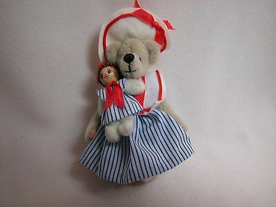 """World of Miniature Bears 3"""" Cashmere Bear Theresa 'N' Friend #647 Collectible"""