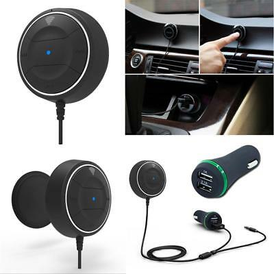 Car Bluetooth Receiver NFC Hands-free Car Kit Stereo 3.5mm Aux 2 USB Charger New