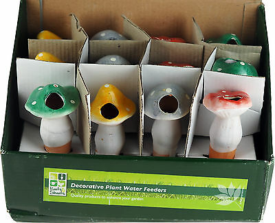 Set Of 12 Mushroom Pot Plant Water Feeders - BULK BUY WHOLESALE VALUE