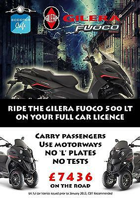 Gilera Fuoco 500 i.e LT Scooter 3 wheel - LAST ONE NOW AVAILABLE
