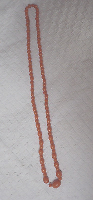 """antique coral beads 24"""""""