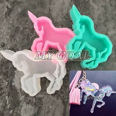 Unicorn Horse Silicone Mould Resin Pendant Jewelry Craft Making Tool Necklace