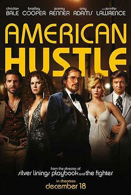 American Hustle Movie POSTER 27 x 40 Christian Bale, G, LICENSED USA NEW