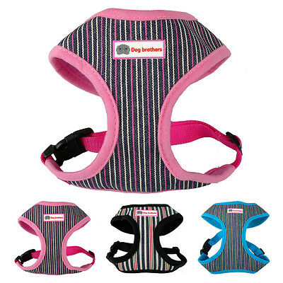 Mesh Dog Harness and Lead Small Medium Large XS XL Soft Comfortable Adjustable