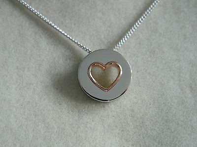 Clogau Silver & 9ct Rose Welsh Gold Circle of Love Pendant