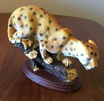 Snow Leopard Statue Wild Animal Figurine Spots Tiger Cat Sophia Ann