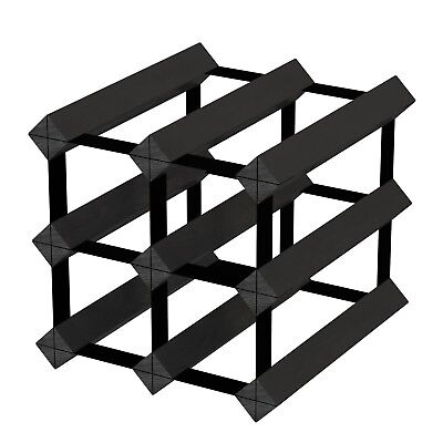 6 Bottle Timber Wine Rack - Black Onyx The Entry Level Wine Storage System