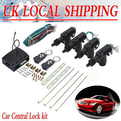 Universal Car 2 Remote Central Kit Door Lock Vehicle Keyless Entry System DT New