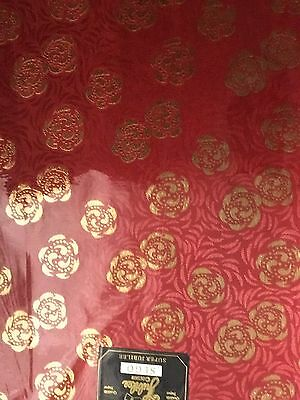 AFRICAN HEADTIE SEGO GELE (Red With Gold Pattern) Per Piece