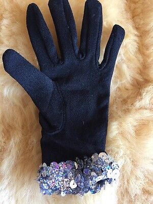 Fashion Princess Kids Girl Gloves Stretchable  For Party ,Black Left Hand Only