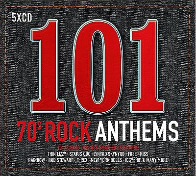 101 70s ROCK ANTHEMS: 5CD SET (New Release May 26th 2017)