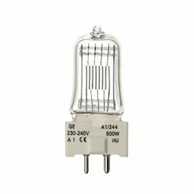 GE A1/244 240v 500w GY9.5 lamp bulb 88460 Genuine New