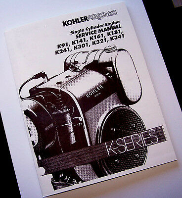 Kohler Engine K Series 16 14 12 10 Hp Service Repair Shop Manual Overhaul Print