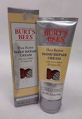 Burts Bees Shea Butter Hand Repair Hand Cream 100% All Natural 3.2 oz Sealed