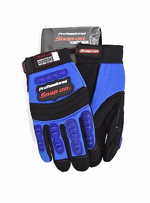 New Snap-On Professional Mechanic Gloves BLUE Medium Workwear M Tool Car Bike