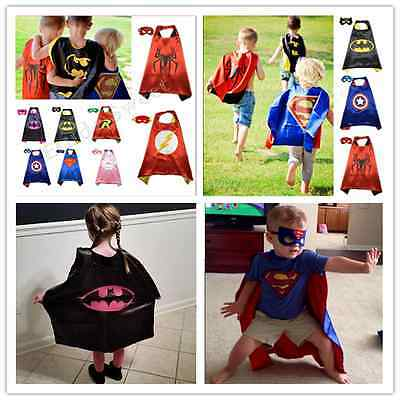 Superman Kids Cape!!!! Mask Superhero Boy Girl birthday Party Costume gift ))))