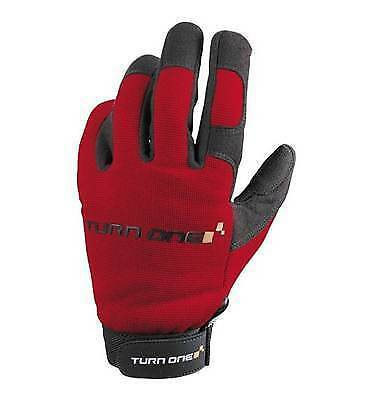 Turn One Motorsport Mechanics Pit / Paddock Gloves Karting Race Rally RED